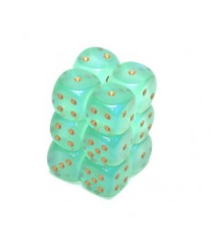 12 d6 16mm Borealis Light Green/Gold CHX 27625