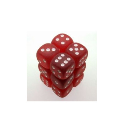 12 d6 16mm Frosted Red/White CHX LE406