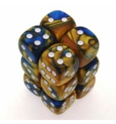 12 d6 16mm Gemini - Blue-Gold/white CHX 26622