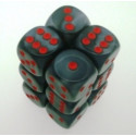 12 d6 16mm Translucent - Smoke w/white CHX 23608