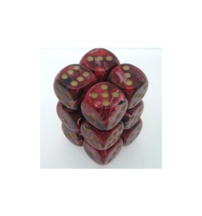 12 d6 16mm Translucent - Teal w/white CHX 23615