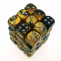 12 d6 16mm Vortex - Blue w/gold CHX 27636