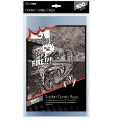 Ultra Pro - Golden Size 7-3/4 X 10-1/2 Comic Bags (E-81977) 19,7*26,7