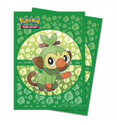 Ultra Pro - Deck Protectors Sleeves - Pokemon - Sword and Shield Galar Starters Grookey - 65 Pz (E-15360)