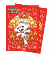 Ultra Pro - Deck Protectors Sleeves - Pokemon - Sword and Shield Galar Starters Scorbunny - 65 Pz (E-15362)