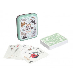 Cat Lovers Playing Cards (Metal)