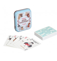 Dog Lovers Playing Cards (Metal)
