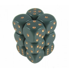 12 d6 16mm Opachi Dusty Green/Copper CHX 25615