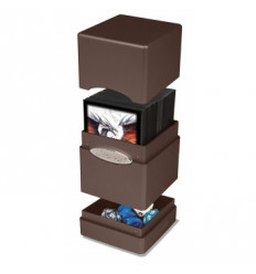 Ultra Pro - Deck Box - Satin Tower - Metallic Dark Chocolate (E-84602)