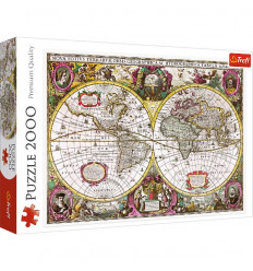 Puzzle 2000pz - A New Land and Water Map of the Entire Earth, 1630 (27095)