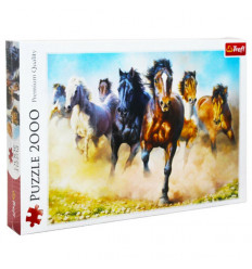 Puzzle 2000pz - Galloping Herd of Horses (27098)