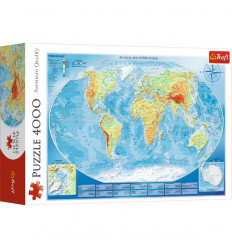 Puzzle 4000pz - Large Physical Map of the World (45007)