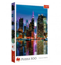 Puzzle 500pz - Full Moon over the Manhattan (37261)