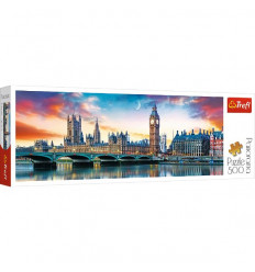 Puzzle 500pz Panorama - Big Ben and Palace of Westminister, London (29507)