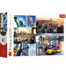 Puzzle 4000pz - New York Collage (45006)