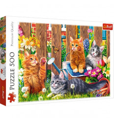 Puzzle 500pz - Kittens in the Gardens (37326)