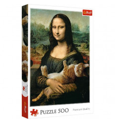 Puzzle 500pz - Mona Lisa and a Purring Kitty (37294)