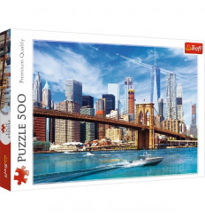 Puzzle 500pz - View of New York (37331)