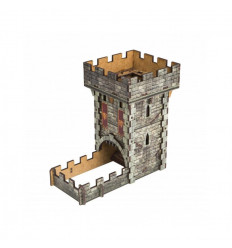 Medieval Color Dice Tower THUM102