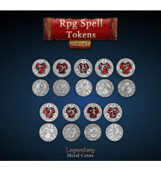 Legendary Coin - RPG Spell Tokens SET