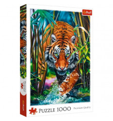 Puzzle 1000pz - Grasping Tiger (10528)