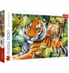 Puzzle 1500pz - Two Tigers (26159)