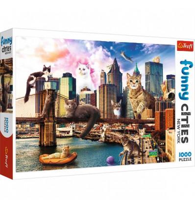 Puzzle 1000pz - Cats in New York (10595)