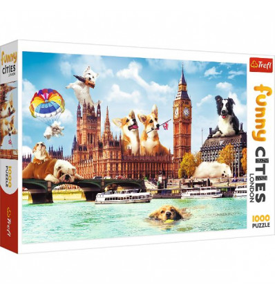 Puzzle 1000pz - Dogs in London (10596)