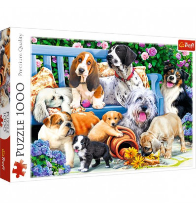 Puzzle 1000pz - Dogs in the Garden (10556)