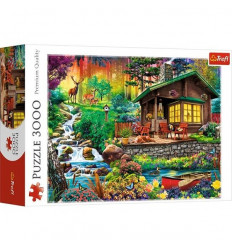 Puzzle 3000pz - Cottage in the Woods (33074)