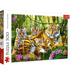 Puzzle 500pz - Family of Tigers (37350)
