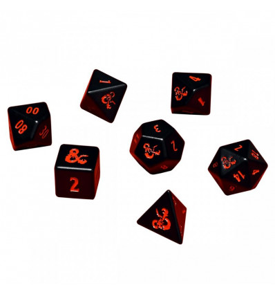 Ultra Pro - Heavy Metal 7 RPG Dice Set for Dungeons & Dragons (E-86854)