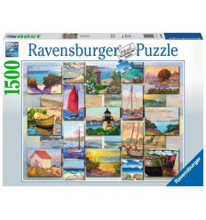 Puzzle 1500pz - Collage Costiero (168200)