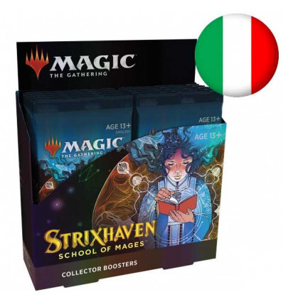MTG - Strixhaven: School of Mages - COLLECTOR BOOSTER DISPLAY (12 Packs) - IT