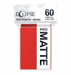 Ultra Pro - Small Sleeves - PRO-Matte Eclipse - Apple Red (60 Sleeves) (E-15640)