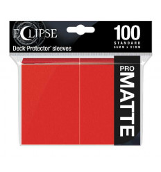 Ultra Pro - Standard Sleeves - PRO-Matte Eclipse - Apple Red (100 Sleeves) (E-15616)