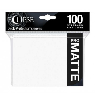 Ultra Pro - Standard Sleeves - PRO-Matte Eclipse - Arctic White (100 Sleeves) (E-15612)