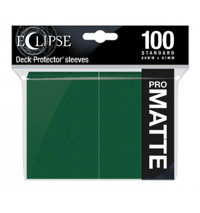 Ultra Pro - Standard Sleeves - PRO-Matte Eclipse - Forest Green (100 Sleeves) (E-15617)