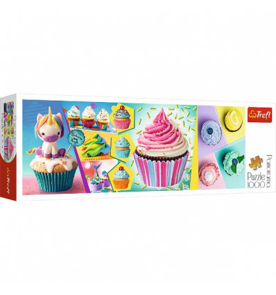 Puzzle 1000pz Panorama - Colorful Cupcakes (29045)