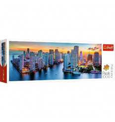 Puzzle 1000pz Panorama - Miami after Dark (29027)