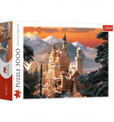 Puzzle 3000pz - Wintry Neuschwanstein Castle, Germany (33025)