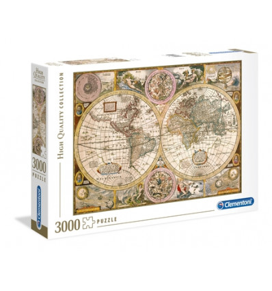 Puzzle 3000pz - High Quality Collection - Old Map (33531)